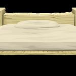 Łóżko z materacem w zestawie